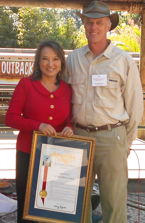 Mary with Oakland Zoo CEO Joel Parrott