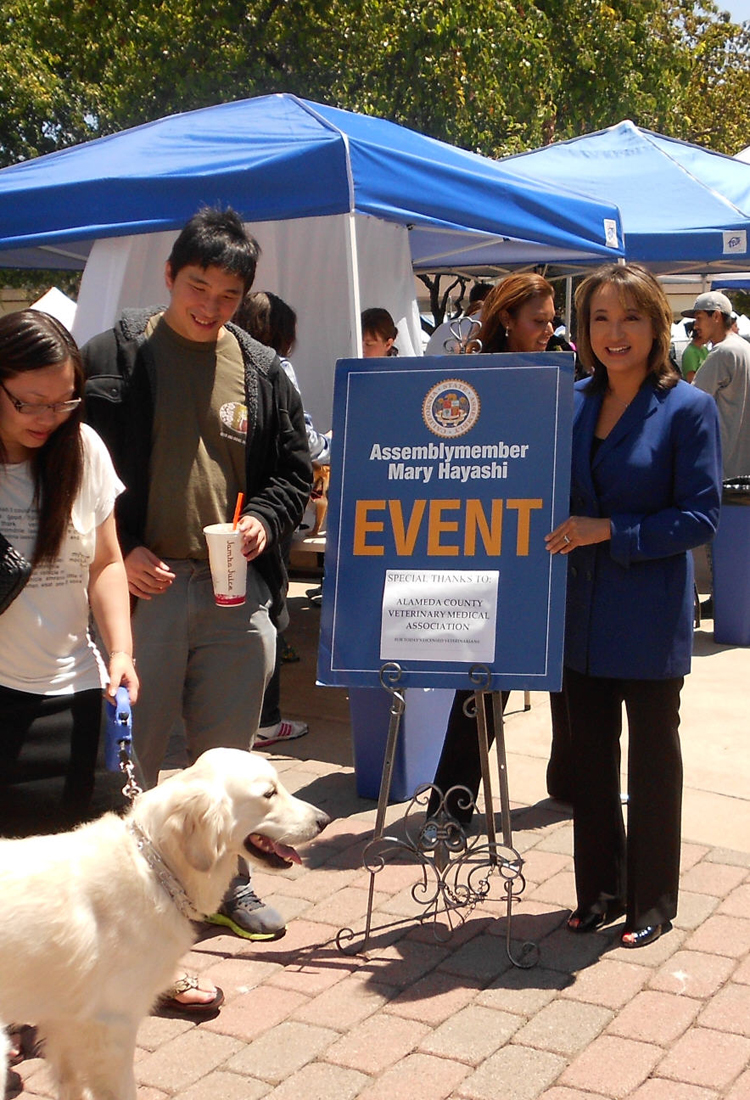 Mary at her Pet Health and Safety Fair