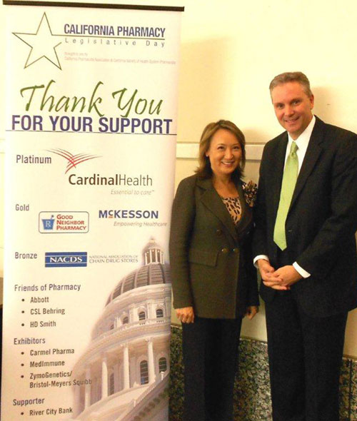 Mary with California Pharmacists Association CEO Jon Roth