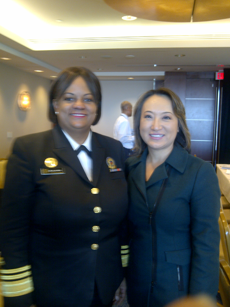 Mary with U.S. Surgeon General Regina Benjamin